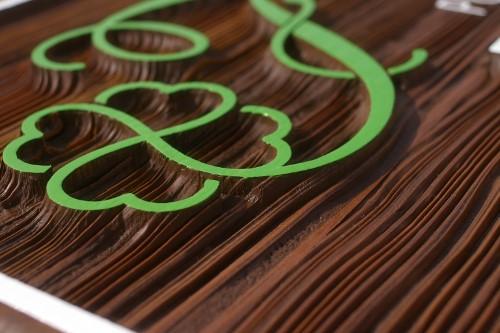 ケーキ 木製看板