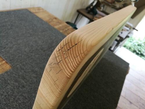 メンテ中の木製看板